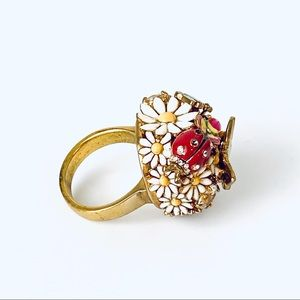 Juicy Couture Butterfly Ladybug Daisy Dome Ring